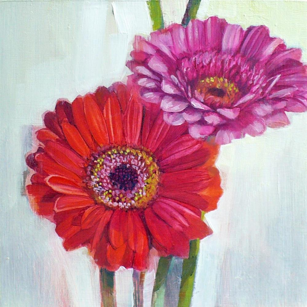 """Gerbera study two"" original fine art by Nicoletta Baumeister"