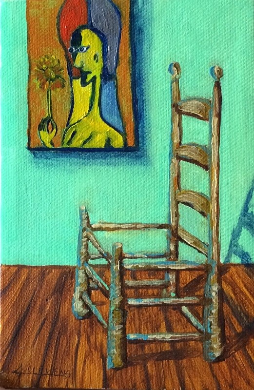 """Chair"" original fine art by Jolynn Clemens"