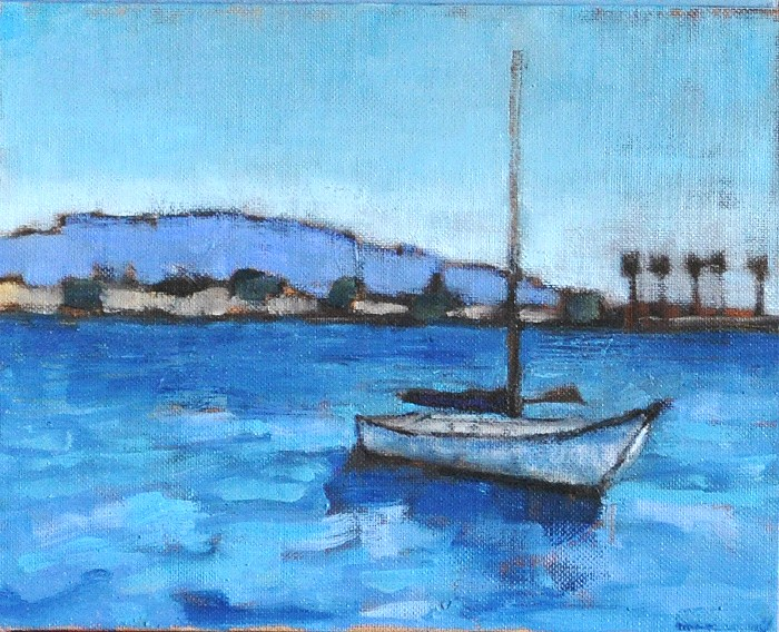 """Sailboats on the Bay"" original fine art by Kevin Inman"