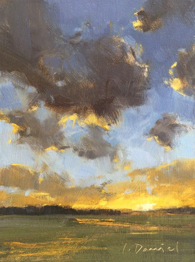"""Western Sky (Study)"" original fine art by Laurel Daniel"