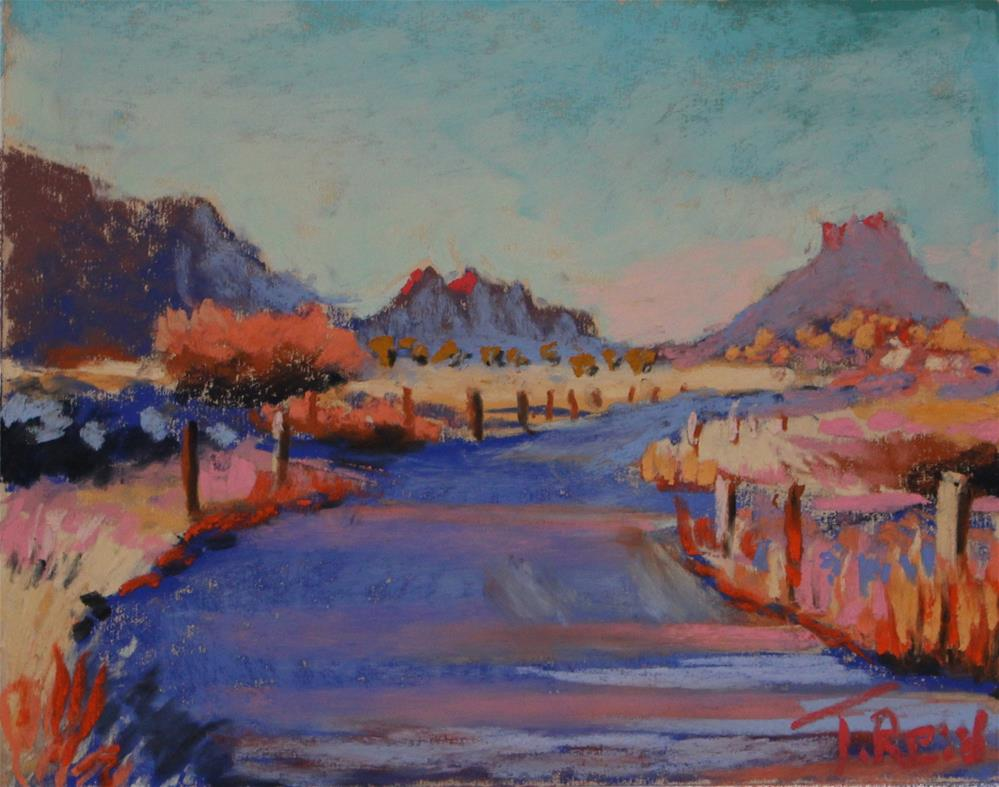 """Shady Road"" original fine art by Toby Reid"
