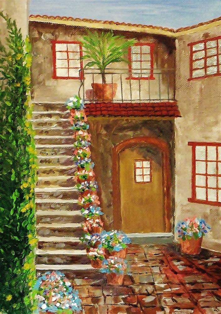 """Inner Courtyard"" original fine art by Mike Caitham"