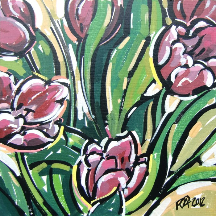 """Tulips 1"" original fine art by Roger Akesson"