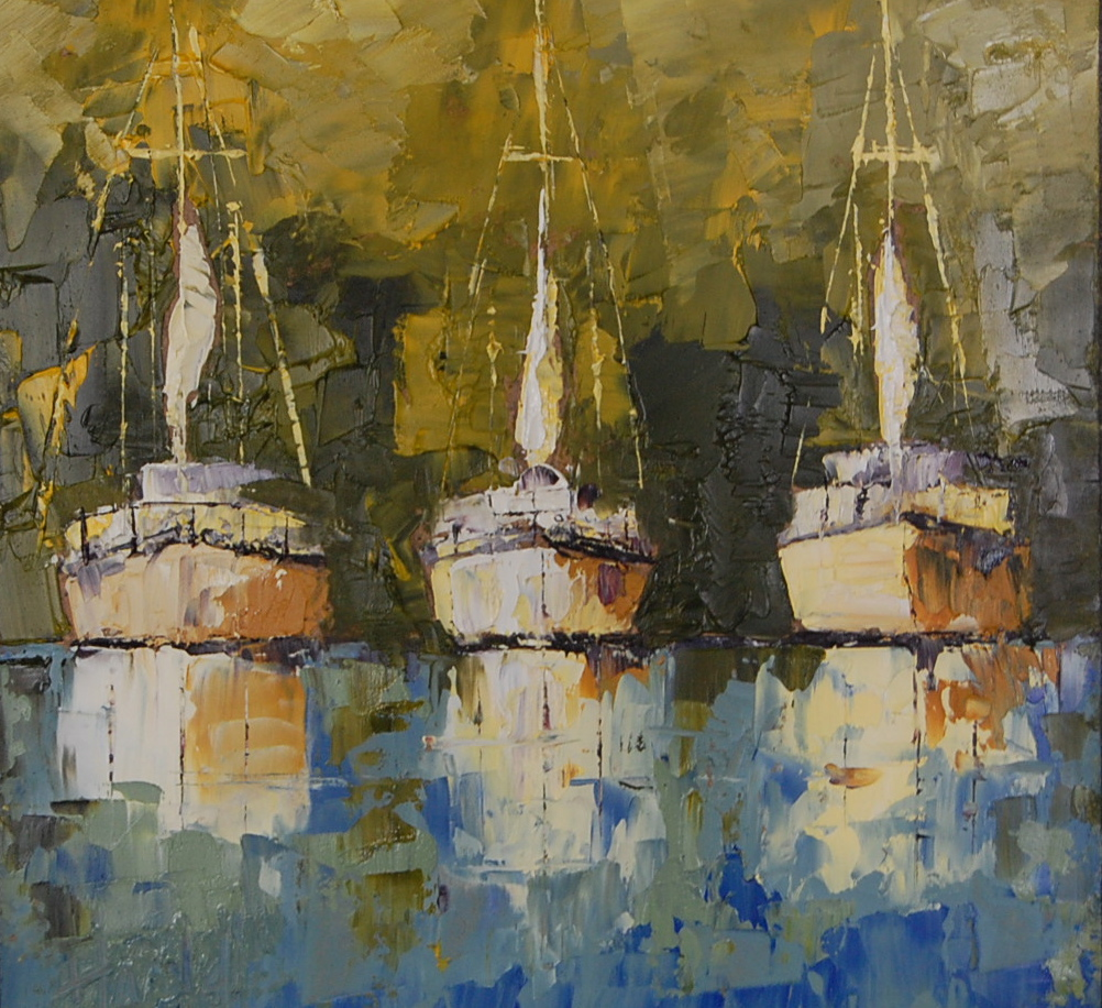 """Catalina Island"" original fine art by Deborah Harold"