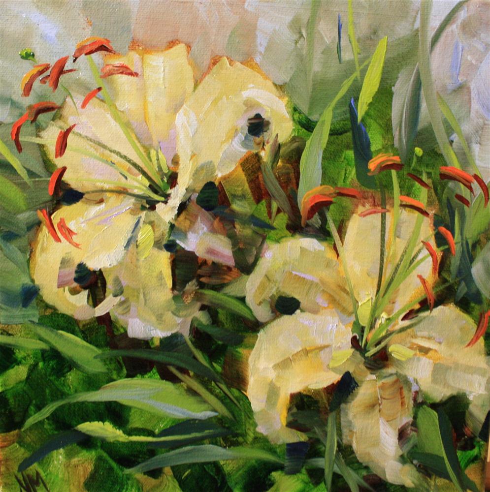 """Day by Day Lilies"" original fine art by Nancy Medina"
