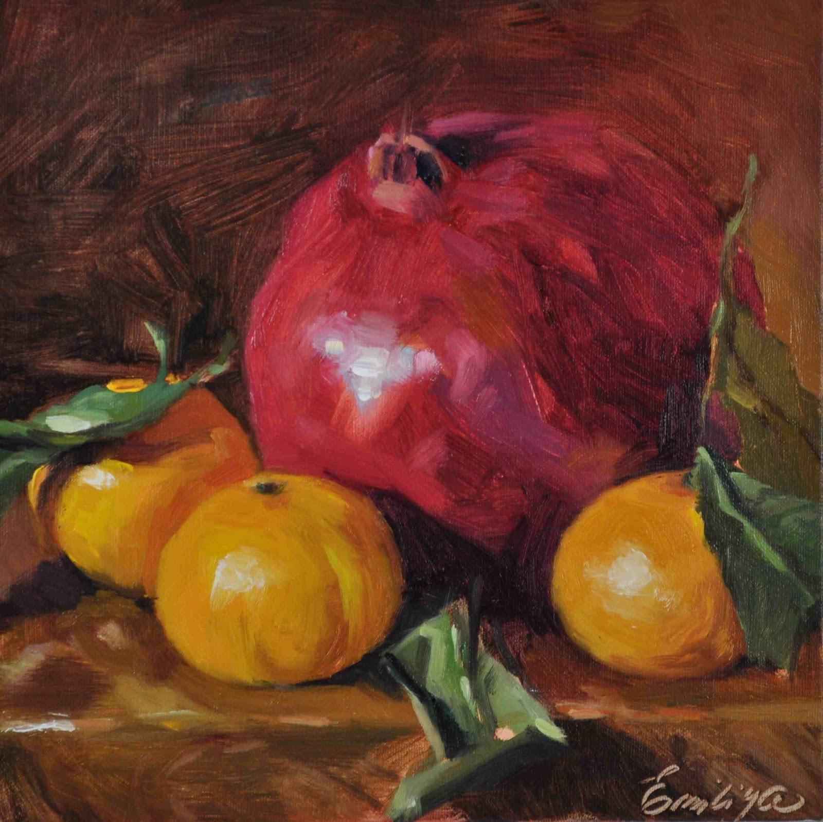 """A Good Company oil/linen 10x10"" original fine art by Emiliya Lane"