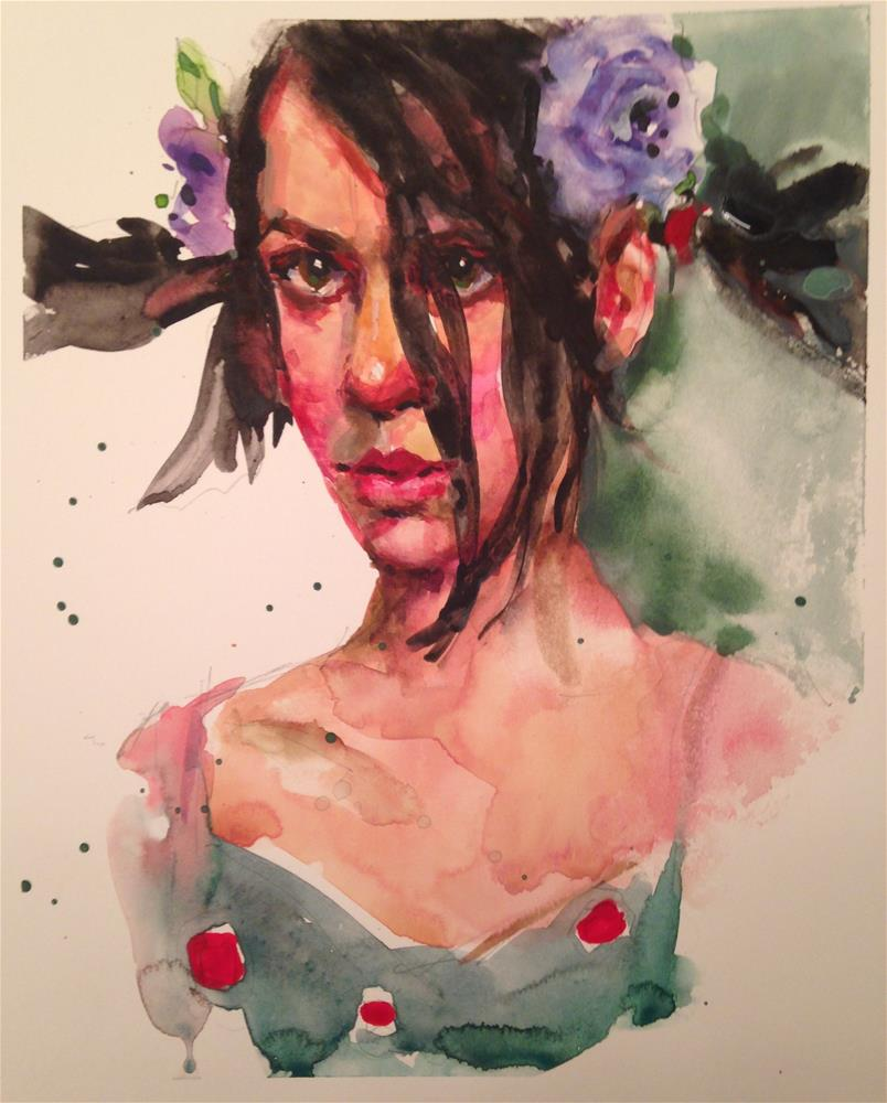 """Ponytail Girl"" original fine art by Laurie Johnson Lepkowska"
