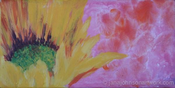 """Sunflower on Pink"" original fine art by Jana Johnson"