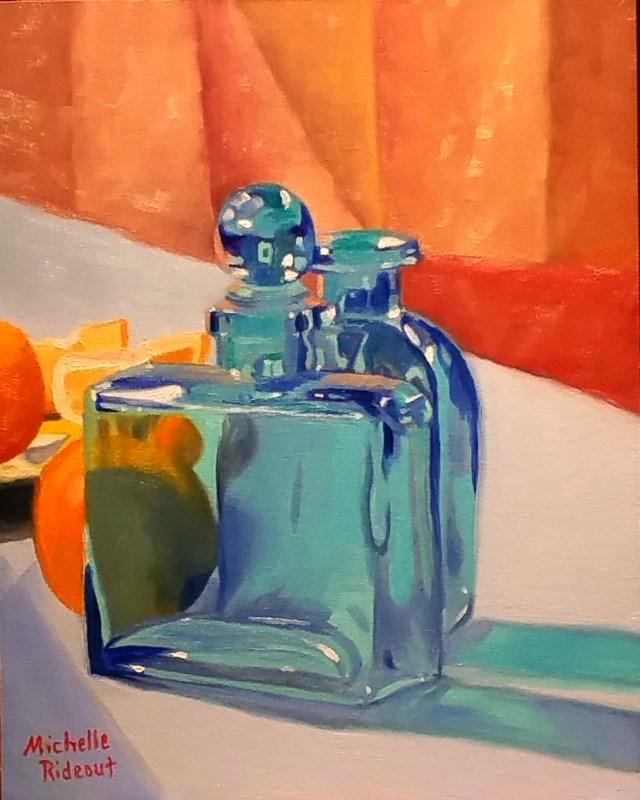 """Peek-A-Boo Orange"" original fine art by Michelle Rideout"