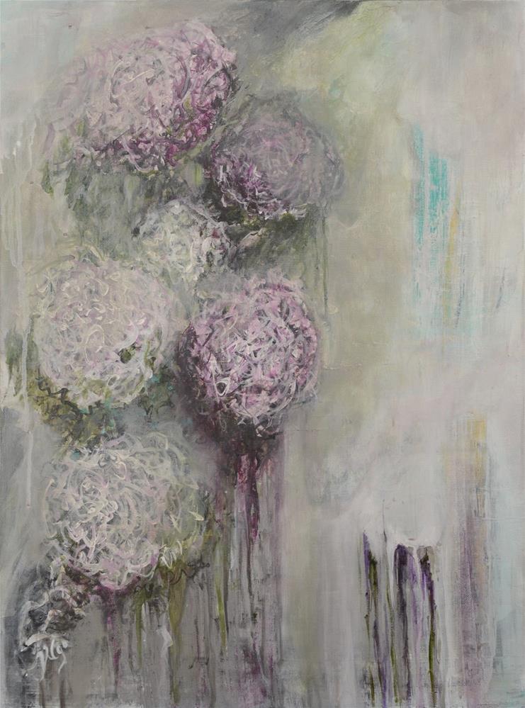 """""""Fleurs dans la pluie"""" original fine art by Vy Ngo"""