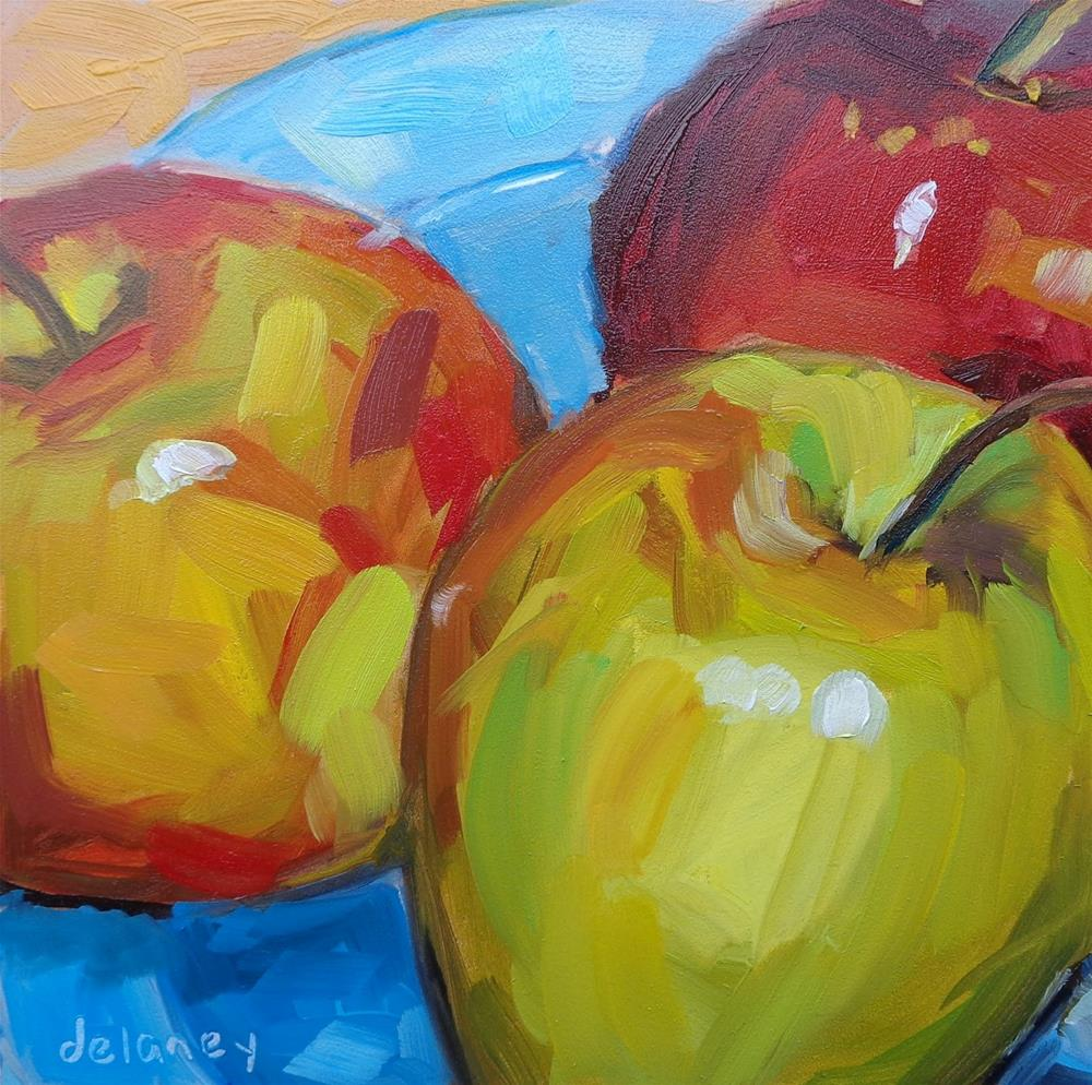"""HAPPY APPLES"" original fine art by Jean Delaney"