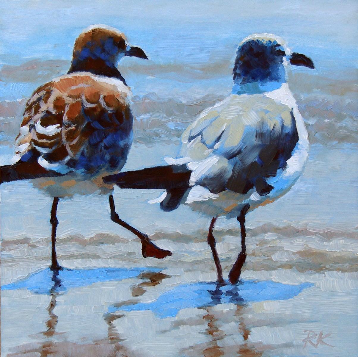 """A Walk on the Beach"" original fine art by Rita Kirkman"