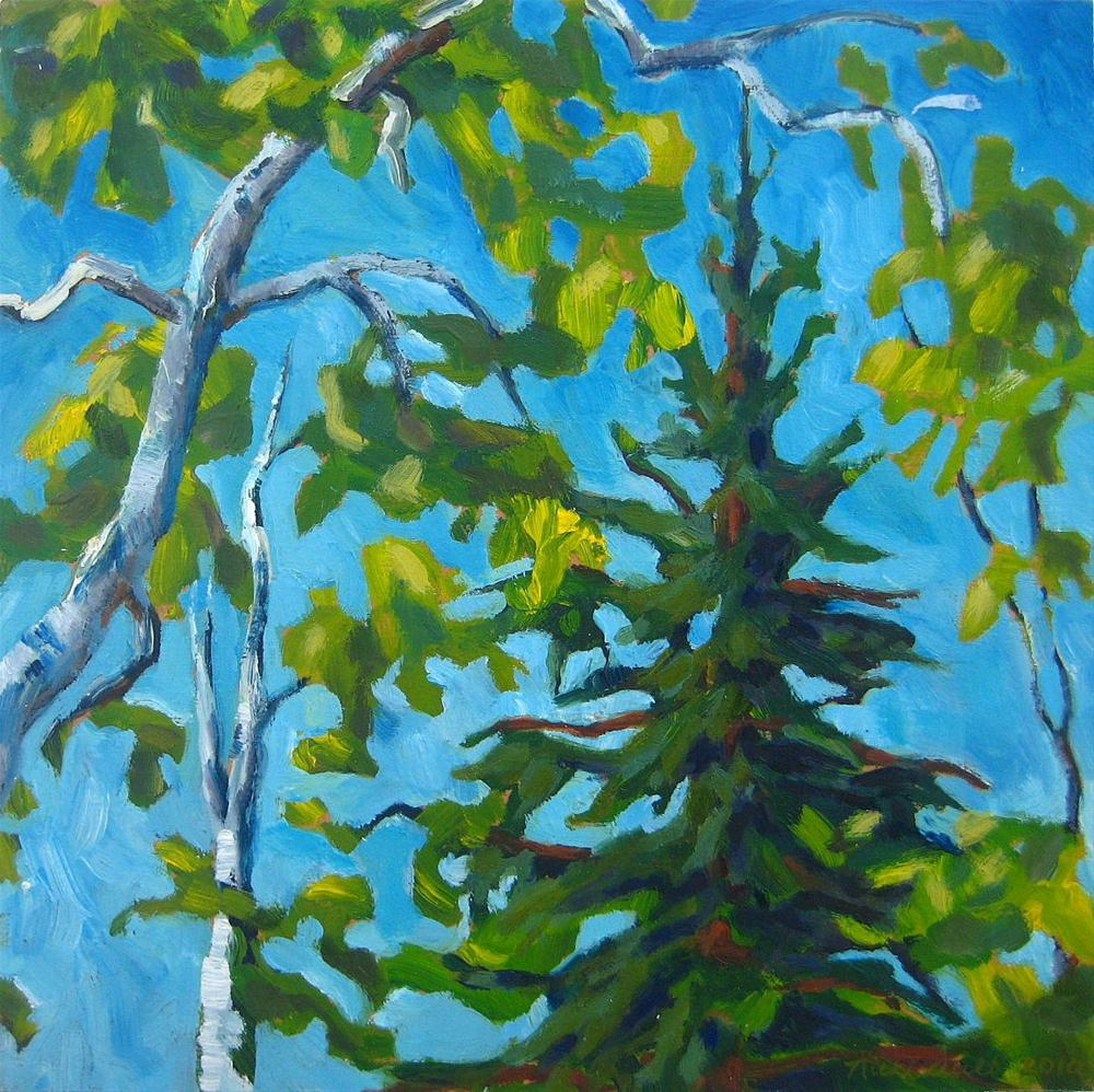 """Pine and Fancy"" original fine art by Nicki Ault"