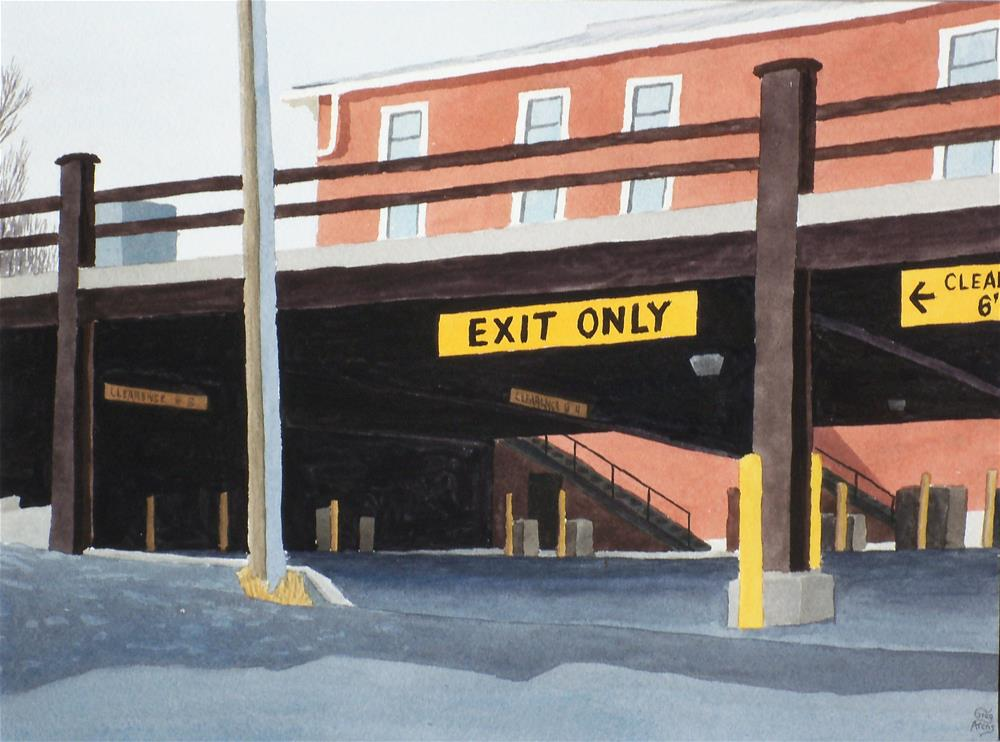 """Parking Deck"" original fine art by Greg Arens"