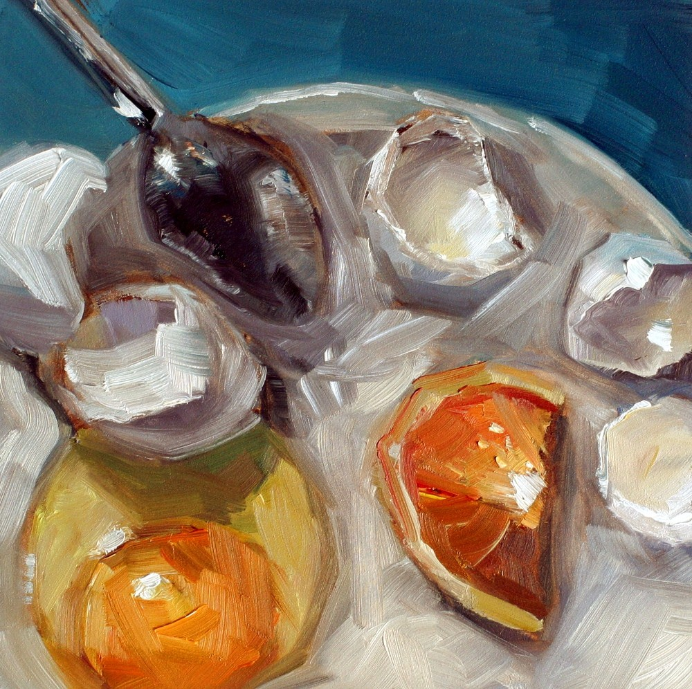 """spoons and eggs."" original fine art by Kristen Dukat"