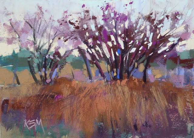 """A Beautiful Mess...Making Sense of a Messy Palette"" original fine art by Karen Margulis"