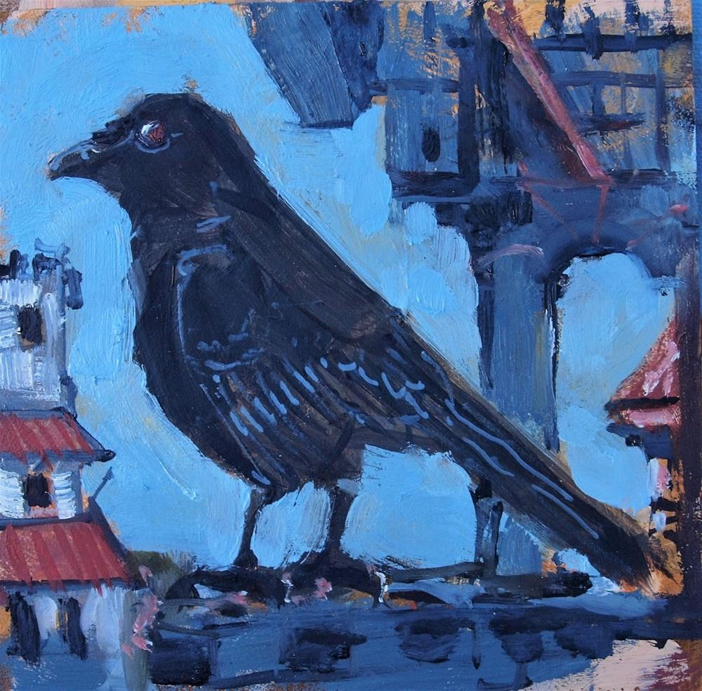 """Crow"" original fine art by Rick Nilson"