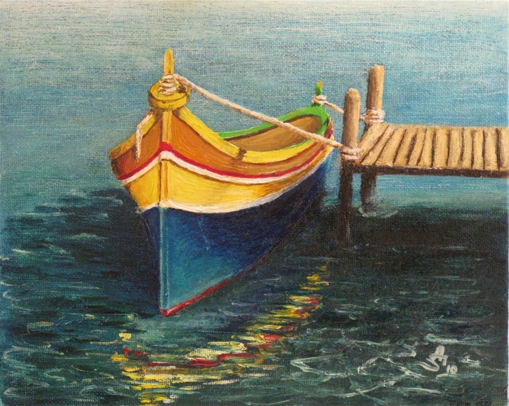 """""""Maltese boat"""" original fine art by Anna Starkova"""
