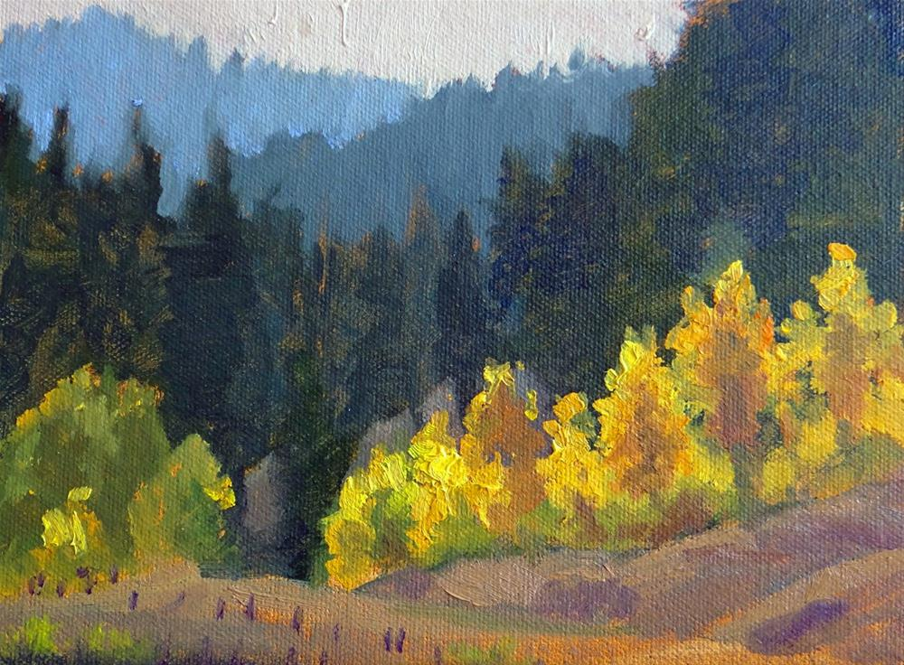 """Autumn in Wyoming"" original fine art by Nancy Paris Pruden"