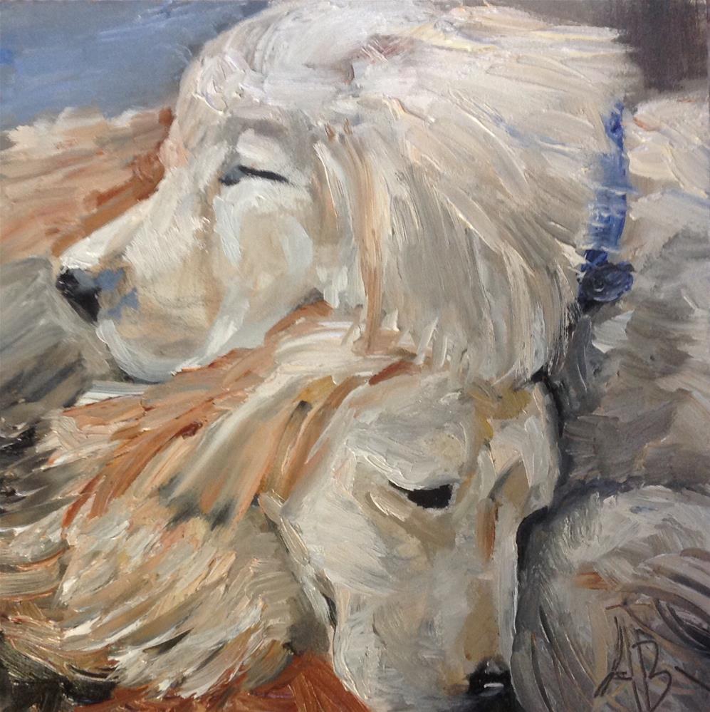 """Full tummy nap"" original fine art by Annette Balesteri"