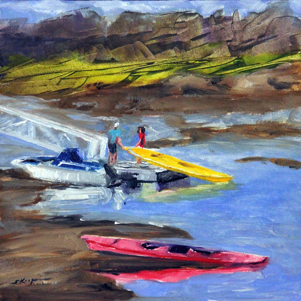 """Putting In At Low Tide"" original fine art by Shelley Koopmann"