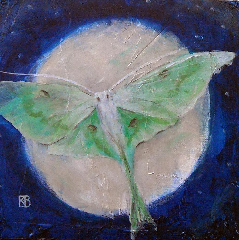 """Luna Flight"" original fine art by Kathleen Barnes"