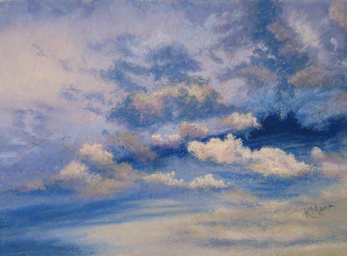 """""""Just Sky"""" original fine art by Ruth Mann"""