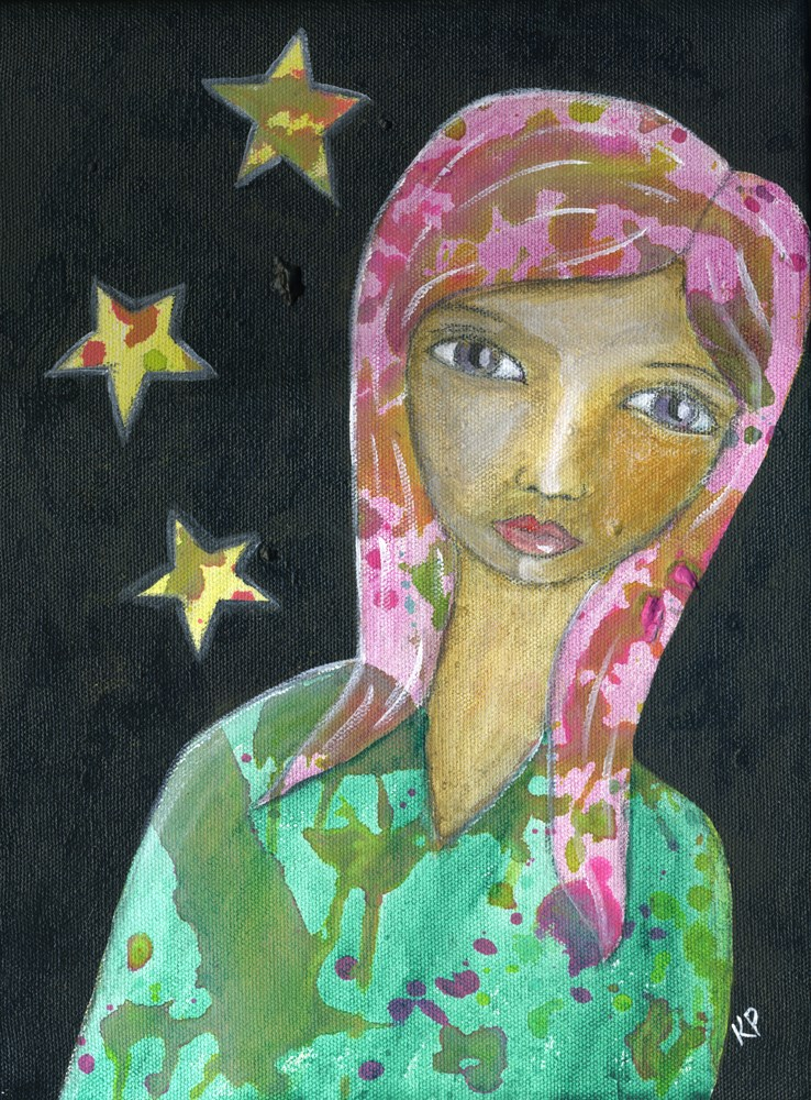"""She is Stardust"" original fine art by Kali Parsons"