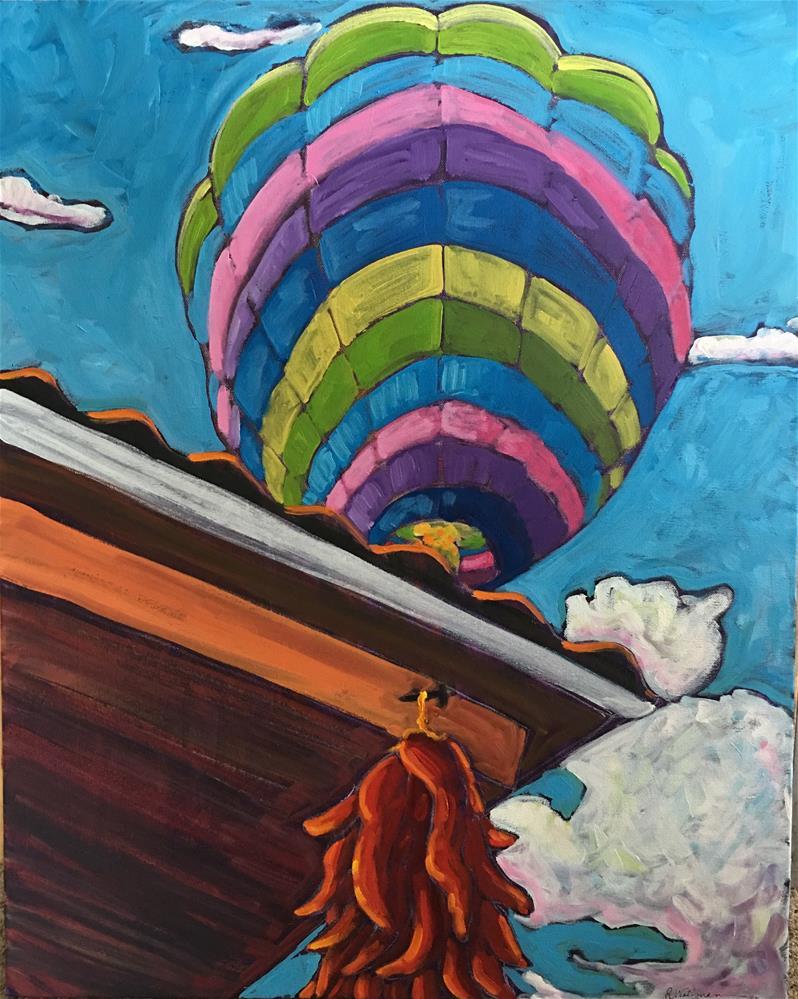 """Balloon Fiesta Morning #2"" original fine art by Robyn Wellman"