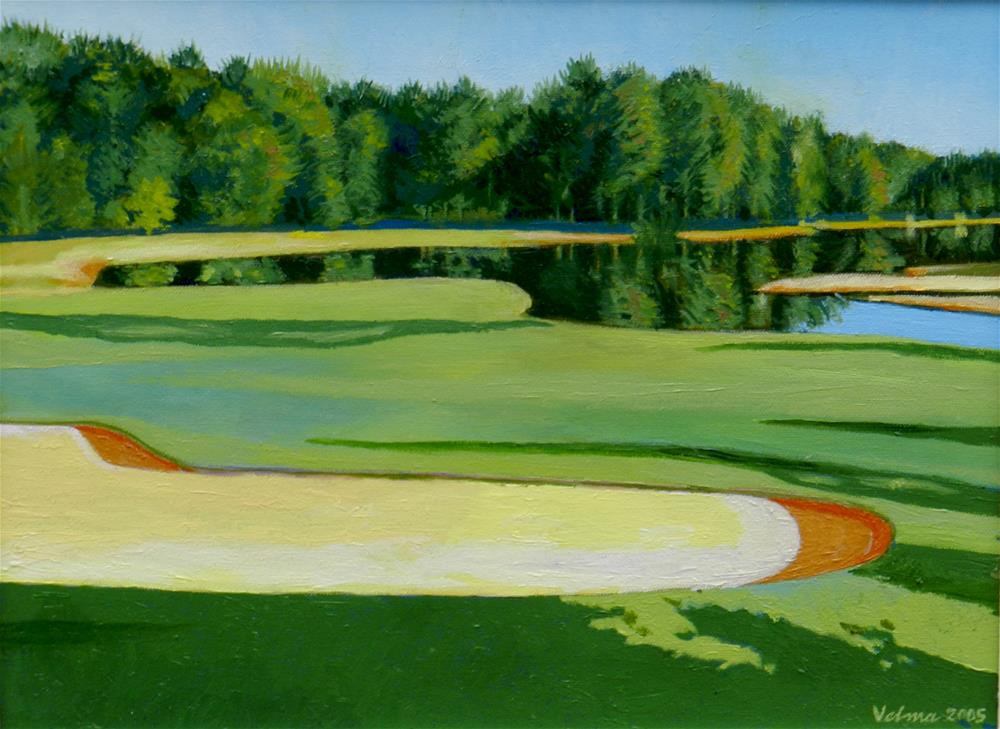 """The Country Club of North Carolina"" original fine art by Velma Davies"