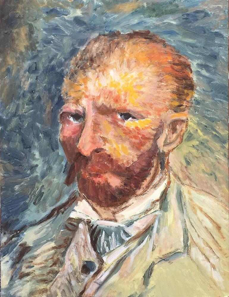 """Van Gogh in the style of Van Gogh"" original fine art by Michael Mikottis"