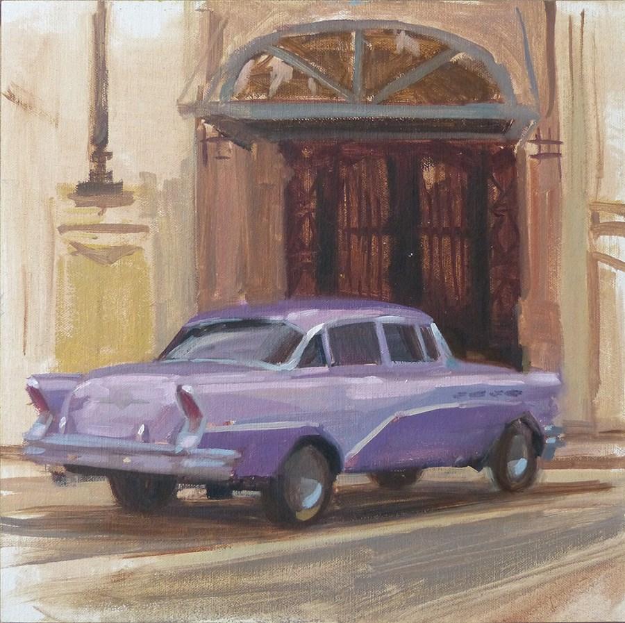 """Cuba - Renee's 56 Buick"" original fine art by Anette Power"
