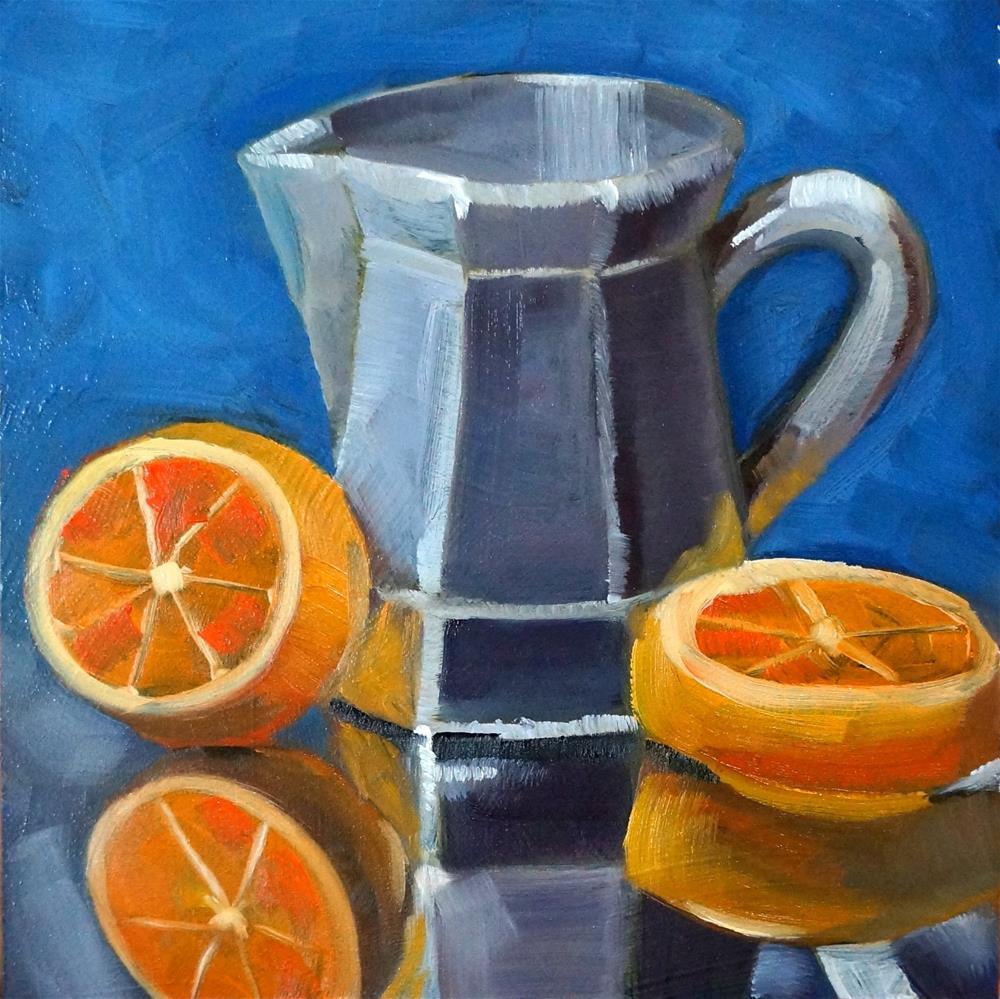 """Orange slices"" original fine art by Dipali Rabadiya"