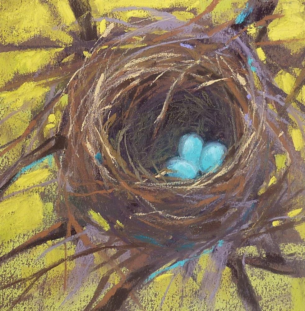"""Pastel Mini Demo BIRD NEST and What Inspired it!"" original fine art by Karen Margulis"