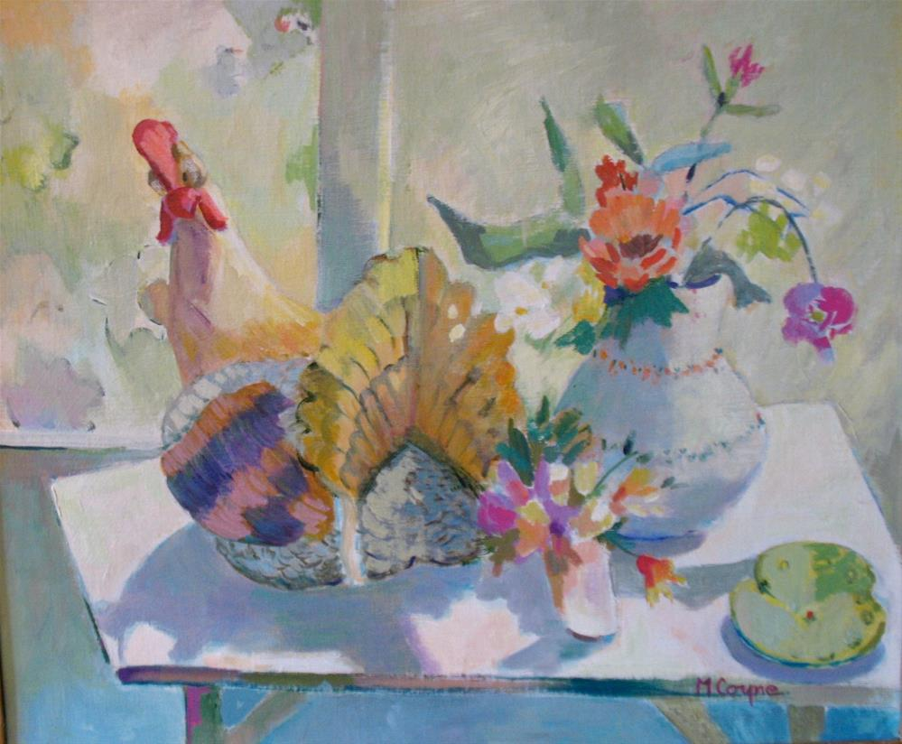"""turkey tureen 2"" original fine art by meribeth coyne"