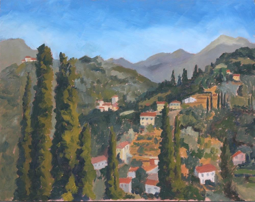 """Looking north from the Duomo"" original fine art by Graham Townsend"