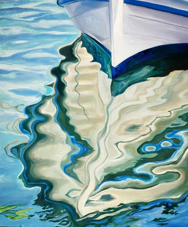 """Viridian Waters"" original fine art by Lauren Kuhn"