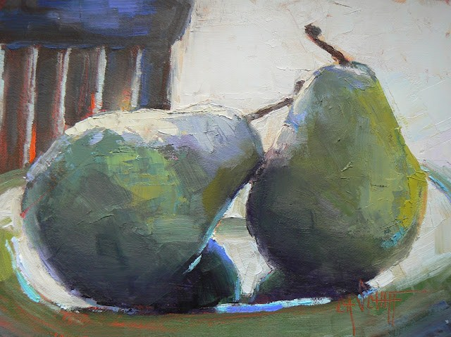 """Still Life Daily Painting Two of a Kind 6x8"" original fine art by Carol Schiff"
