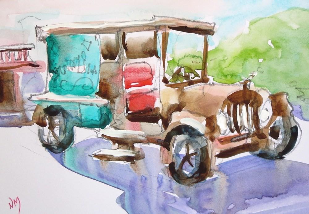 """old timer"" original fine art by Nora MacPhail"