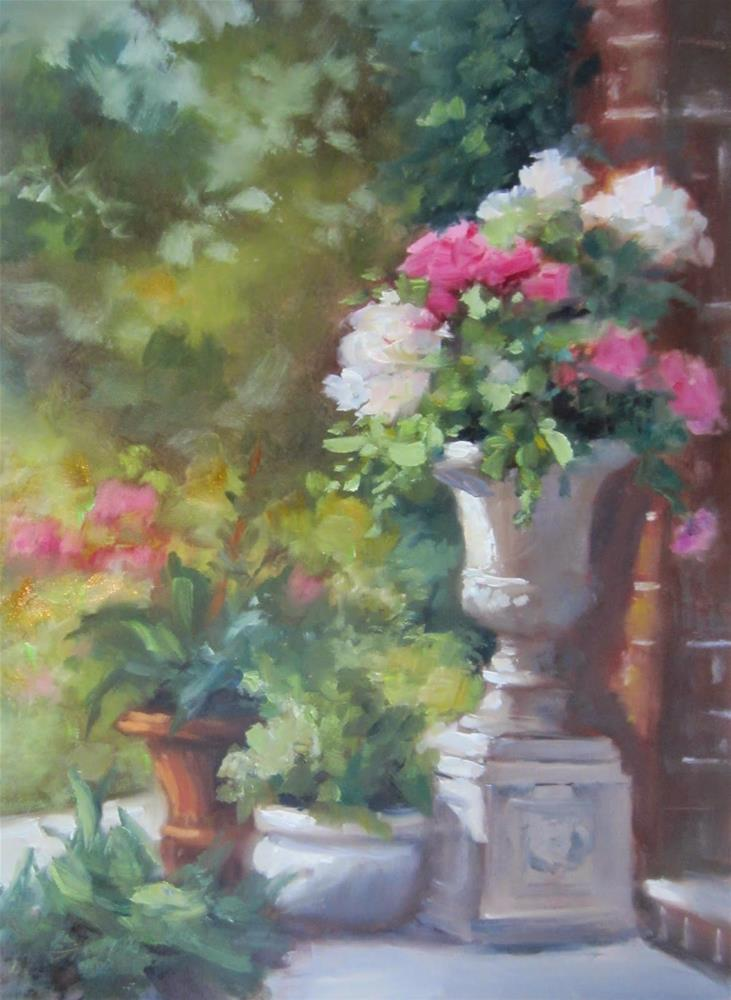 """Garden Dreams and Video"" original fine art by Pat Fiorello"