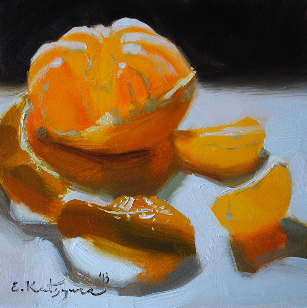 """""""Shining Mandarin"""" original fine art by Elena Katsyura"""