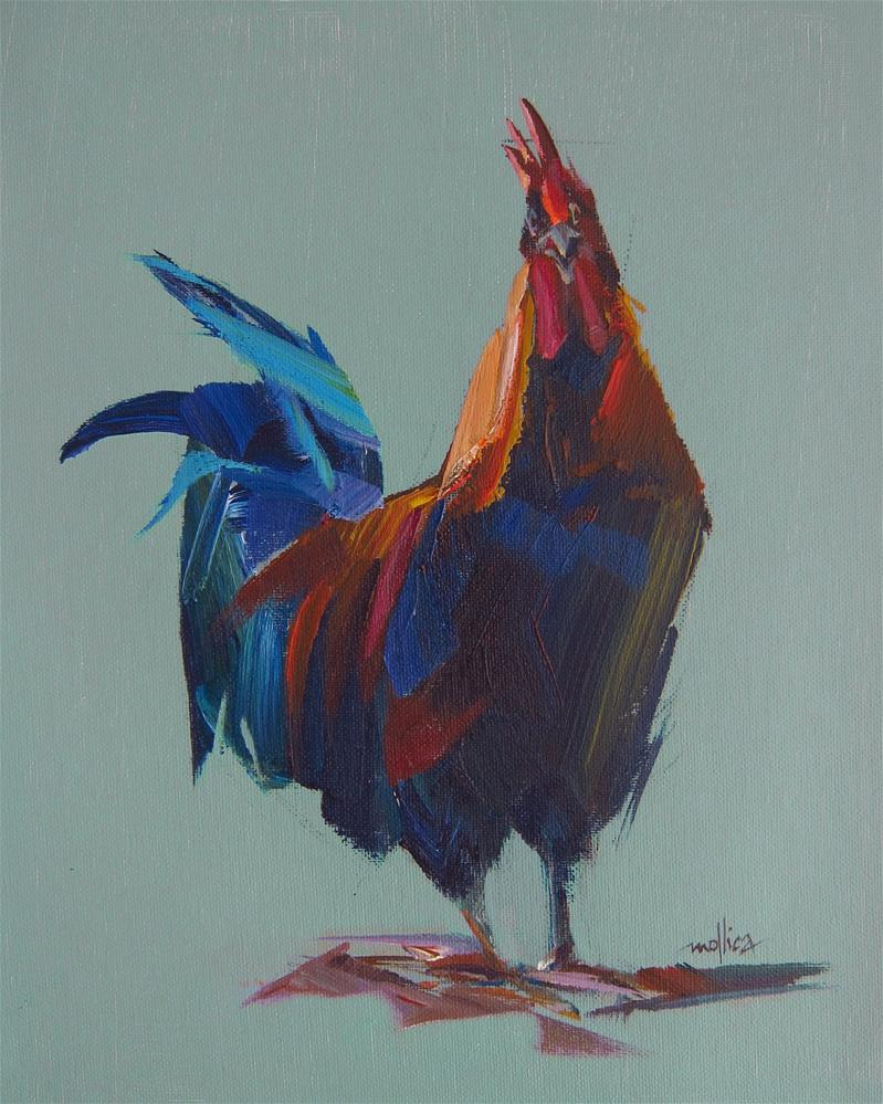 """Ranting Rooster"" original fine art by Patti Mollica"