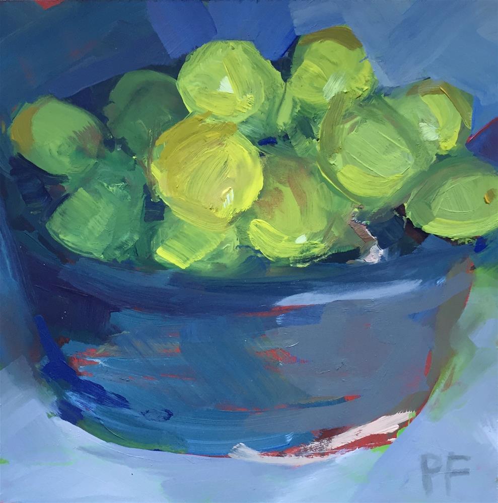 """Big Green Grapes"" original fine art by Patti Frasier"