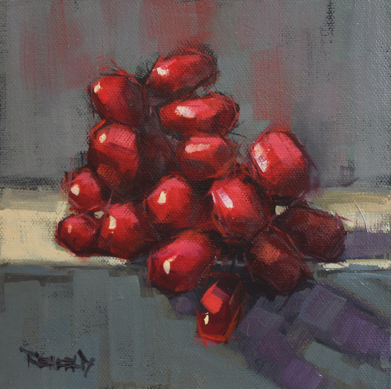 Very Red Grapes original fine art by Cathleen Rehfeld