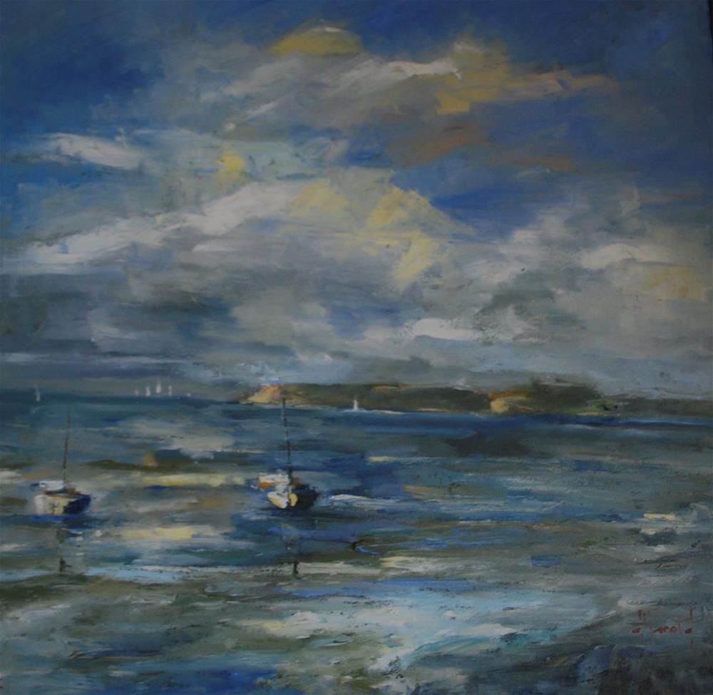 """Island Fever"" original fine art by Deborah Harold"