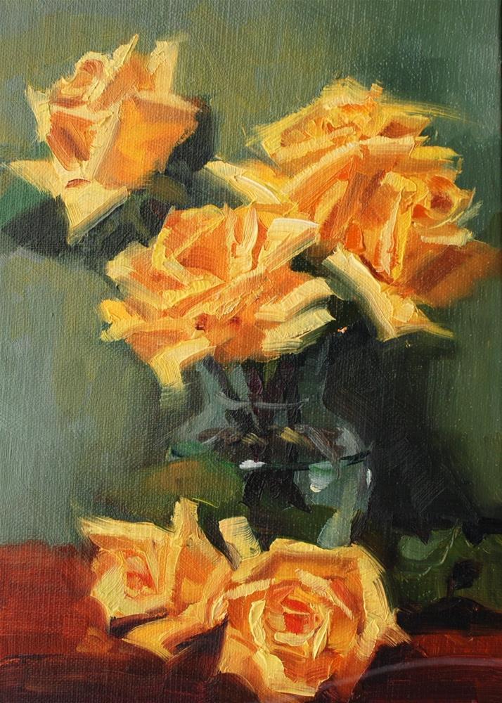 """No. 695 Perrin Rose #4"" original fine art by Susan McManamen"