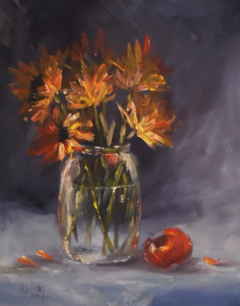 """Sunshine Somewhere Floral oil painting by Alabama Artist Angela Sullivan"" original fine art by Angela Sullivan"