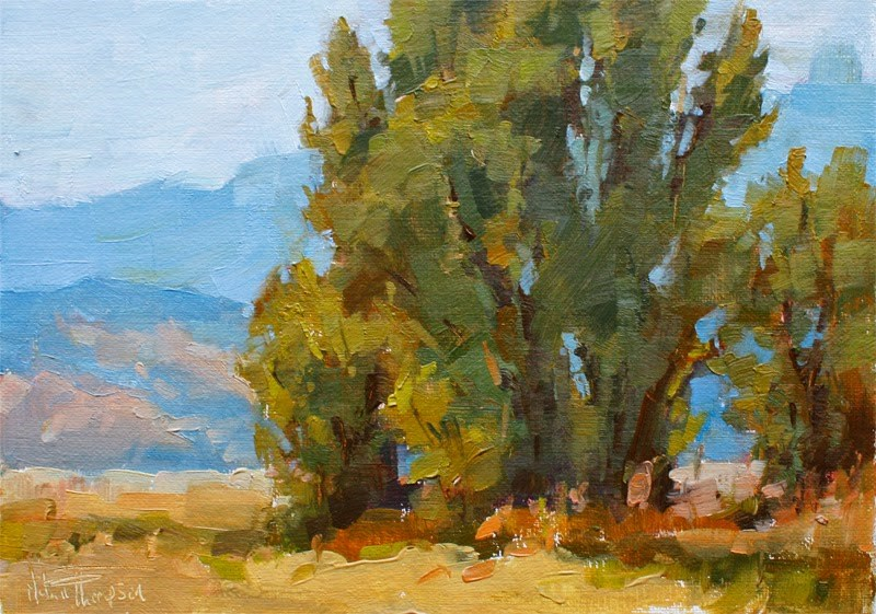 """Owens Valley Cottonwood V"" original fine art by Melanie Thompson"