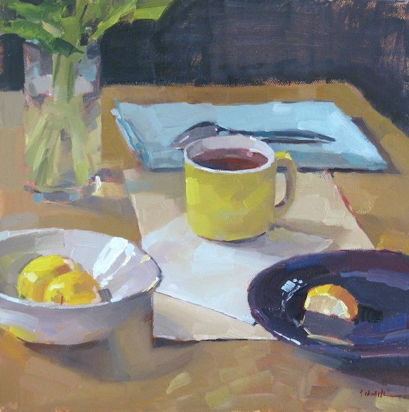 """The Yellow Teacup"" original fine art by Sarah Sedwick"