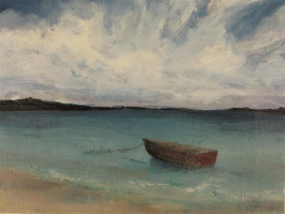 """In a Bay."" original fine art by christina glaser"